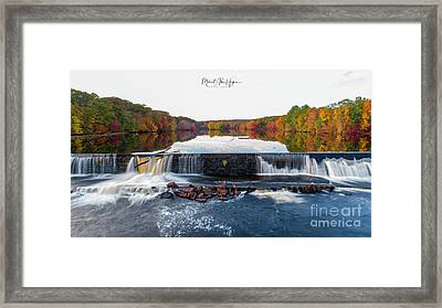 Framed Print featuring the photograph Power Of The Shetucket by Michael Hughes