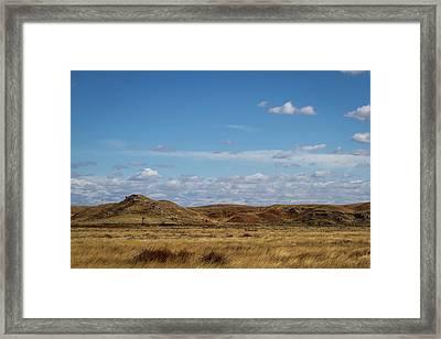 Framed Print featuring the photograph Prairie Solitude by Scott Bean
