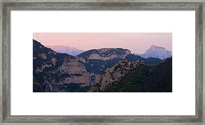 Framed Print featuring the photograph Pre Pyrenees Sunset by Stephen Taylor