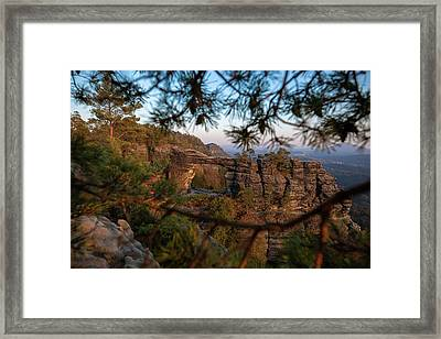Framed Print featuring the photograph Prebischtor In The Evening Light by Andreas Levi
