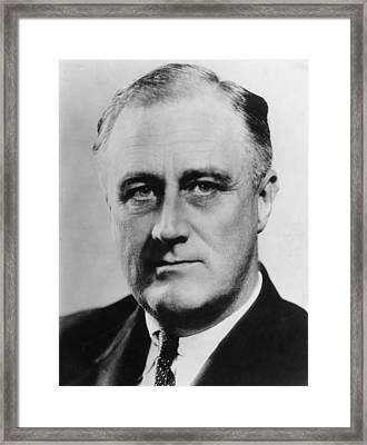 President Roosevelt Framed Print by Evening Standard