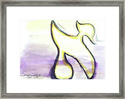 Pretty Aleph A15 Framed Print