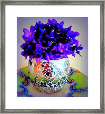 Pretty Purple Petals O T T Framed Print