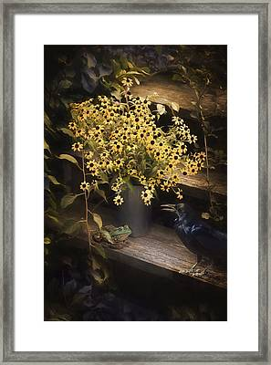 Framed Print featuring the photograph Prince And A Crow by Robin-Lee Vieira