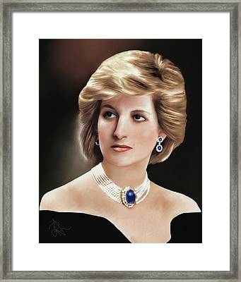 Princess Diana Framed Print