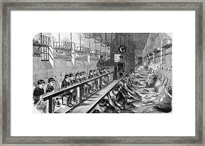 Prisoners At Millbank Framed Print by Hulton Archive