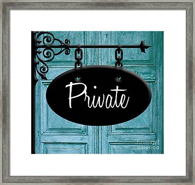 Private Framed Print