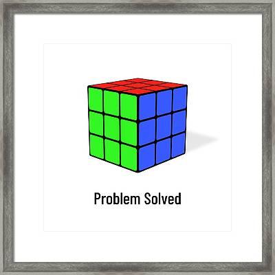 Problem Solved Framed Print