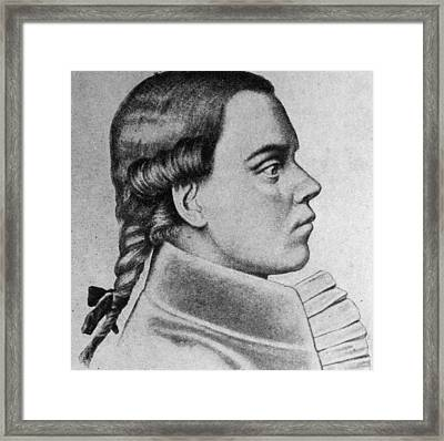 Profile Of Young Beethoven Framed Print by Hulton Archive
