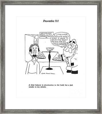 Proverbs Illustration No. 4 Framed Print