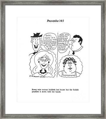 Proverbs Illustration No. 6 Framed Print