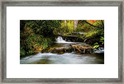 Framed Print featuring the photograph Provo Deer Creek Cascades by TL Mair