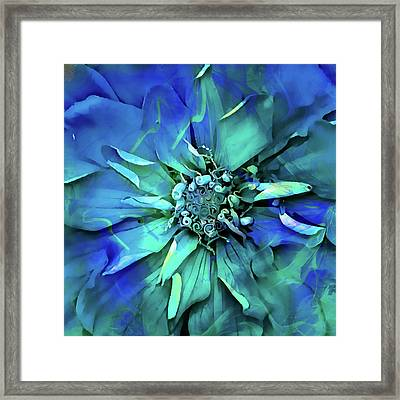 Psychedelic Blues Framed Print