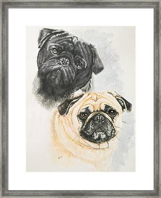 Pug Brothers Framed Print