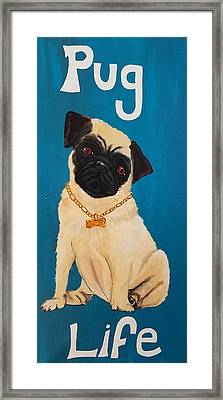 Pug Life Framed Print