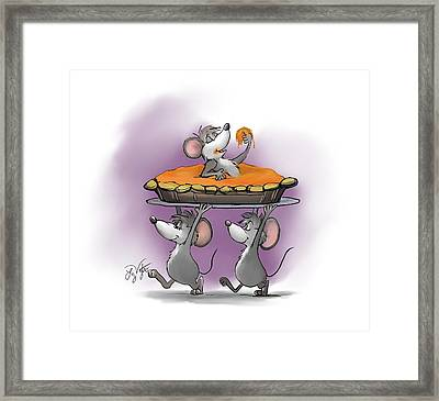 Pumpkin Pie Celebration Framed Print