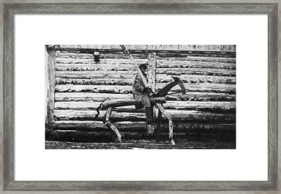 Punishment Horse Framed Print by Hulton Archive