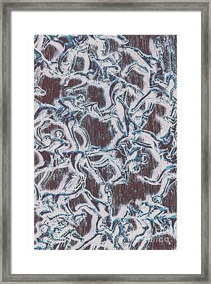 Punting Pattern Framed Print