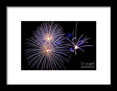 Fireworks Show Framed Prints