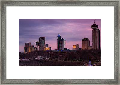 Purple Haze Skyline Framed Print
