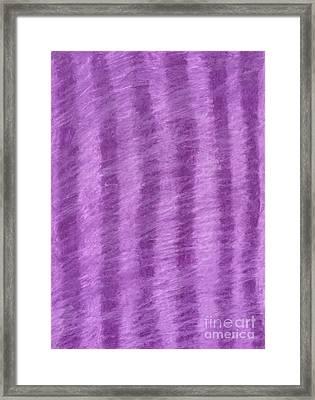 Purple Hazy Nights Framed Print