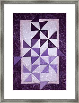 Purple Pinwheels Pirouetting Framed Print