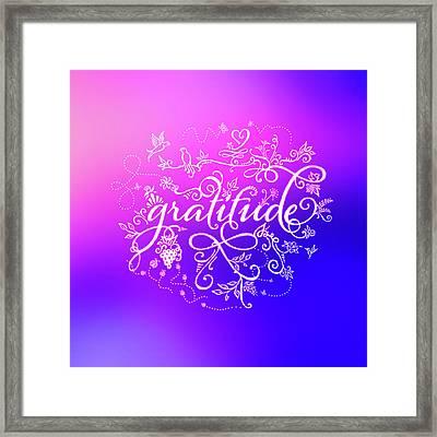 Purply Pink Gratitude Framed Print