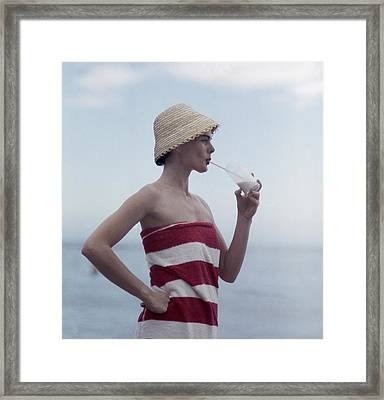 Pussyfooting Framed Print by Slim Aarons