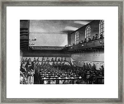 Quakers Meeting Framed Print by Hulton Archive
