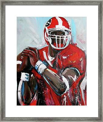 Quarterback Framed Print