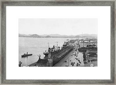 Quayside In Santos Framed Print by Hulton Archive