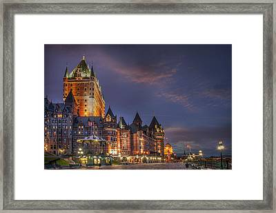 Quebec City, Chateau Frontenac Hotel Framed Print by Buena Vista Images