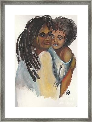 Framed Print featuring the painting Queen Love by Saundra Johnson