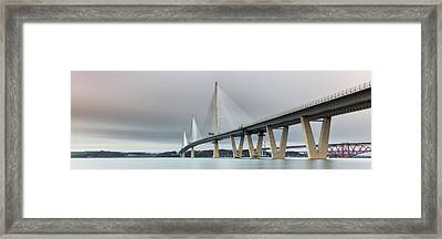 Framed Print featuring the photograph Queensferry Crossing Bridge 3-1 by Grant Glendinning
