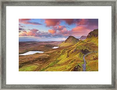 Quiraing View Framed Print by By Michael Breitung Photography -> Www.mibreit-photo.com