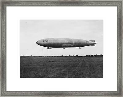 R34 Airship Landing Framed Print by Jimmy Sime