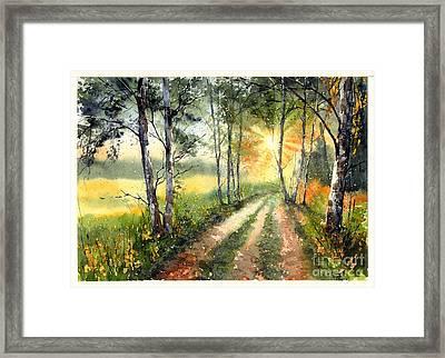 Radiant Sun On The Autumn Sky Framed Print