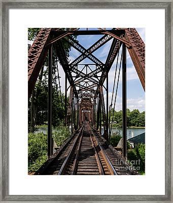 Railroad Bridge 6th Street Augusta Ga 1 Framed Print