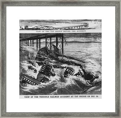 Railway Accident Framed Print by Hulton Archive