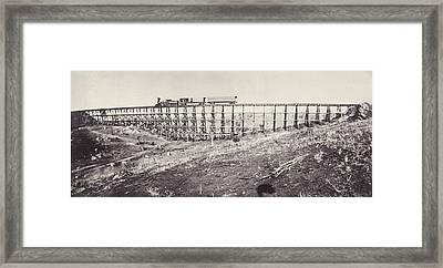 Railway Bridge Framed Print by Otto Herschan Collection