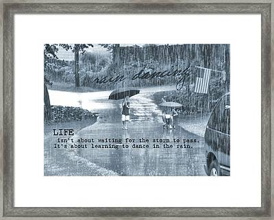 Rain Dance Quote Framed Print