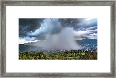 Framed Print featuring the photograph Rain Storm Over Medellin by Francisco Gomez