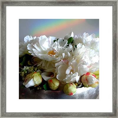 Rainbow Buds N' Blooms Three Framed Print