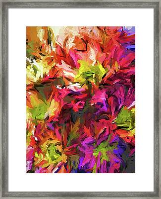 Rainbow Flower Rhapsody In Pink And Purple Framed Print