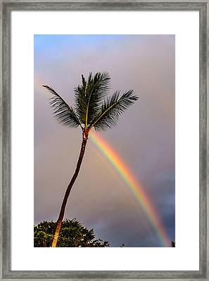 Rainbow Just Before Sunset Framed Print