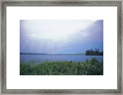 Rainbow Over Raquette Lake Framed Print