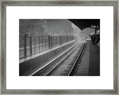 Rainy Days And Metro Framed Print