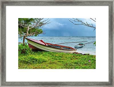 Rainy Fishing Day Framed Print