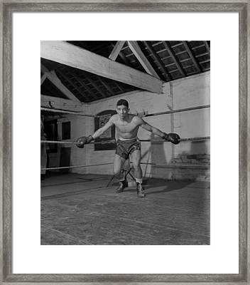 Randolph Turpin Framed Print by Hulton Archive