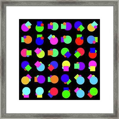Random Circle And Square - Phi Framed Print